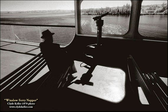 WINSLOW FERRY NAPPER, Puget Sound, infrared, Clyde Keller photo