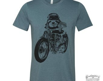 Mens Motorcycle SLOTH T Shirt  s m l xl xxl (+ Color Options) custom