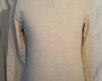 "Vintage lambswool sweater, tan 40"""