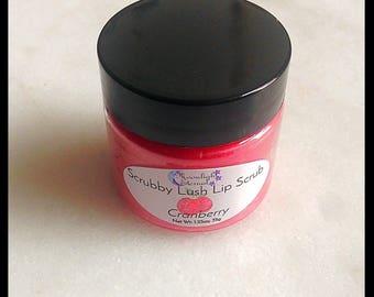 Cranberry Lip Scrub - Artisan Lip Scrub - Handmade - 1 oz - Lip Polish - Exfoliating - Tastes Great! - Vegan