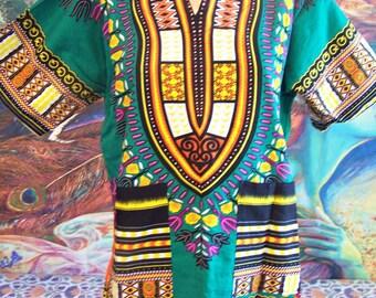 Dashiki, TRIBAL, African Dashiki, African Blouse, Dashiki Shirt, size S/M