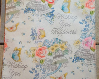 Wishing You Happiness Wedding Gift Wrap by American Greetings