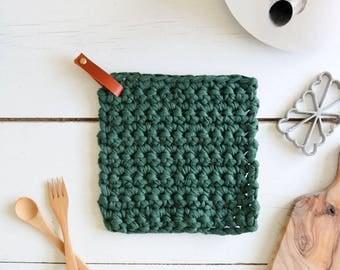 Potholder triviet recycled coton crochet