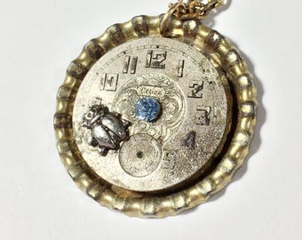 Steampunk Necklace Steampunk Watch Jewelry - Free Domestic Shipping