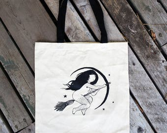 Witch Tote - feminist screenprinted bag