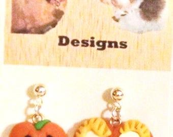 Pumpkin Pals Halloween Polymer Clay Earrings