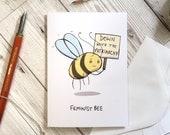 Feminist Bee card, A6 size, birthday card, friend card, bee card, well done card, funny card, sister card, feminist card,