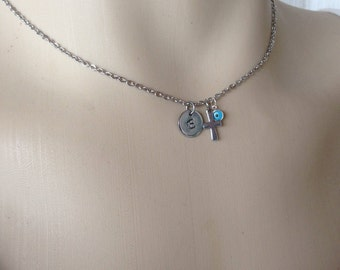 Personalized evil eye cross necklace - Stainless steel & Sterling silver  - Greek jewelry - fashion jewelry