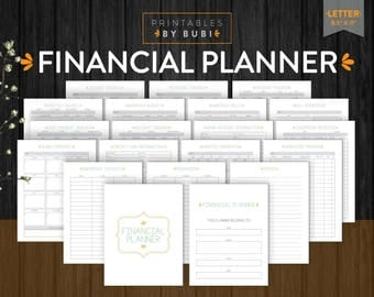 Financial Planner Inserts Printable Page Savings, Income, Debt, Finance Expenses Tracker Finances Planner Printable, Finances Inserts