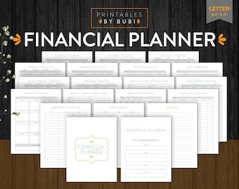 Financial Planner, Finance Planner, Budget Planner, Printable Planner, Budget Planner Book, Budget Printable, Budget Binder