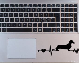 Dachshund Car Decal ~ Doxie Heartbeat Window Decal ~ Weiner Dog EKG Laptop Decal ~ Dog Lover Gift ~ I love Dachshunds ~ Dog Car Decal
