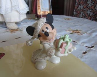 Lenox Christmas with Mickey Figurine. Excellent condition