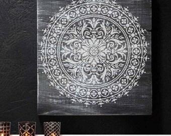 Mandala Stencil Abundance - Mandala Stencil for Furniture, Walls, or Floors - DIY Home Decor - Better than Decals