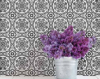 Amalfi Tile Stencil - Easy Way to Improve Wall Decor - DIY Wall Art - Reusable Stencils for Home Makeover