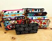 CUSTOM ORDER - Cotton print pencil pouch/ pencil organizer/ zipper pouch/ small bag/ zipper pouch