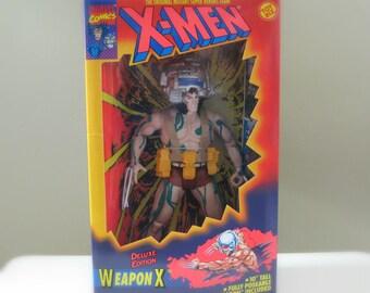 "X-Men Action Figure, Wolverine Xmen Toy, 90s Marvel Comics Figure, Toy Biz, Christmas Gift for Men, Comic Book Toy, Wolverine 10"" Figure"
