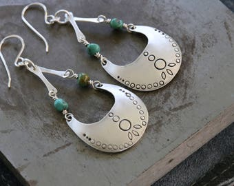 Sterling dangles turquoise earrings by Katherine sheetz