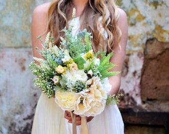 Woodland bouquet, foliage bouquet, greenery bouquet, rustic flowers, fern bouquet, keepsake bouquet, forest wedding, woodland wedding