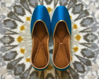 Hand-made Indian Ballet Flats/Juthis/Khussa/Mojari/Slip-on/Jooties