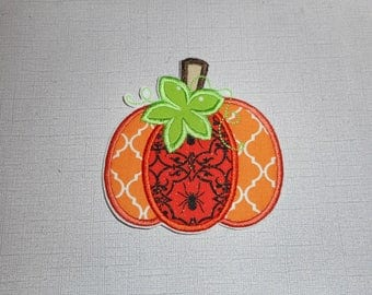 Halloween  Pumpkin Ready to Ship Free Shipping Machine Embroidery iron on applique   .