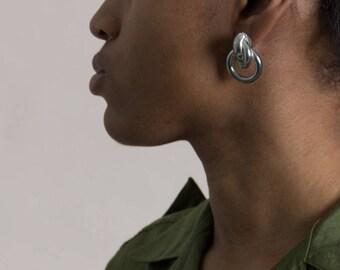 Vintage Silver Knot Earrings