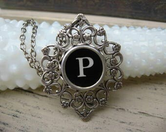 Typewriter Key Jewelry Letter P