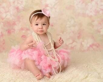 Tutu Dress   Baby Tutu   Baby Dress   Birthday Tutu   Baby Tutu Skirt   Pink Birthday Tutu   Strawberrie Rose   1st Birthday Tutu