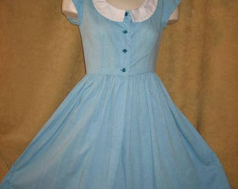 Day Dress Fit & Flare XS 50s Vintage