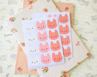 cute Bunny Rabbit sticker seals gift wrapping craft stickers