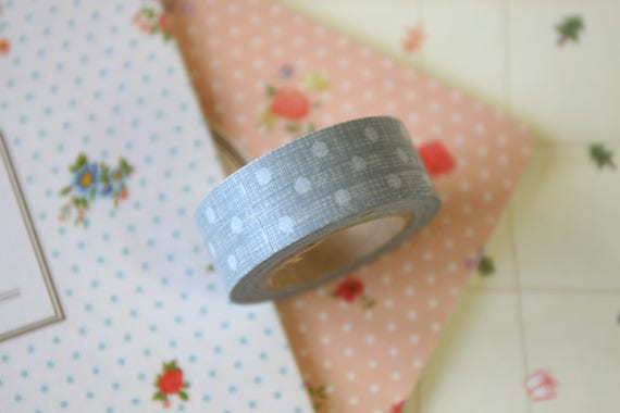 Grey Dots country craft paper masking tape