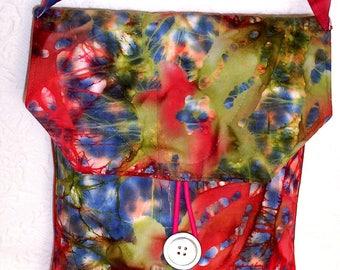 Shoulder Bag, Fabric Shoulder Purse, Handmade Quilted Bag, iPad Carrier, Everyday Fabric Purse, Casual Shoulder Bag, Gift for Her, Book Bag