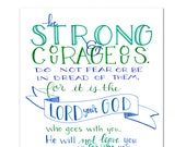 Be strong and Courageous - Digital Download