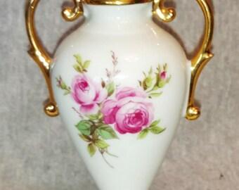 Limoges Vase, Limoges France, Porcelain Miniature, Vintage