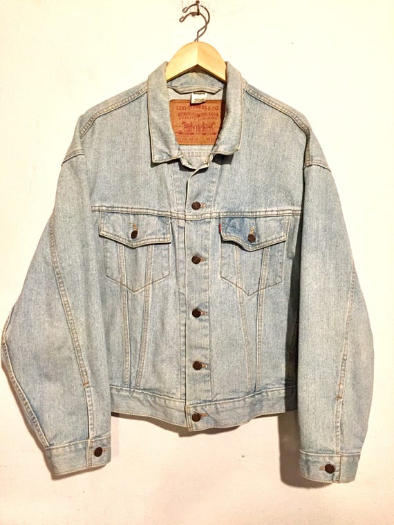 80s Vintage Levi's Light Wash Denim Jacket