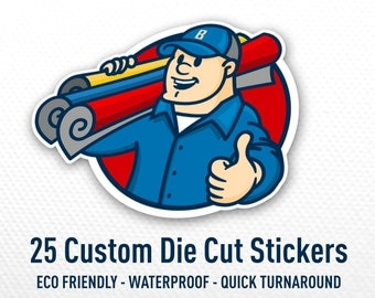 Die Cut Stickers Etsy - Custom vinyl stickers australia the advantages