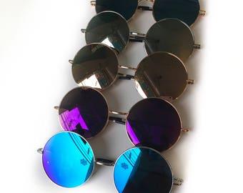 Oversized circle sunglasses in bright bold colors // hippie retro festival boho grunge trend // summer sunnies