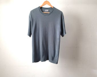 vintage textured MID 90s vintage y2k slouchy oversize slate blue grey t-shirt top