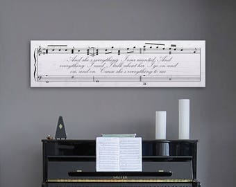 Wedding Anniversary Gift, Personalized Canvas, Sheet Music Art, First Dance Print, Wedding Song Print, Custom Artwork