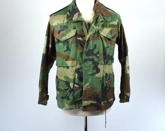 US Army Cold Weather Field Combat Jacket Woodland Camouflage