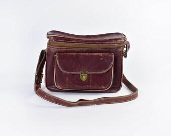 Cross Body Leather Camera Bag || Binoculars Bag