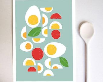 Kitchen Wall Art - Fresh Eggs  - high quality fine art print