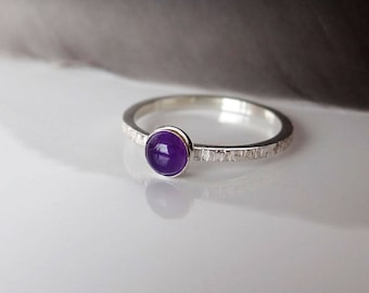 Amethyst Stacking Ring - February Birthstone Ring