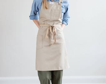 Culinary Apron in Clay Brushed Twill w/ Cotton Ties