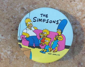 The Simpsons Button, Entire Simpsons Family Pin