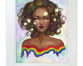 Dipped in Stars and Rainbows 8x10 Art Print by Selina Fenech