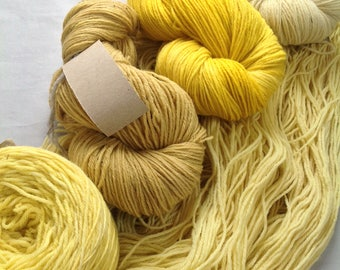 YELLOW PALETTE ~ Colours By Nature ~ SOFTWOOL Sport Wool Yarn plant dyed hand dyed