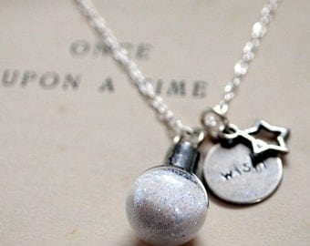 Pixie Dust Sparkle Necklace, Wish on a Star, Sterling Silver Necklace, Fairy Magic, Sparkle Dust, Once Upon A Time, Fairy Wishes
