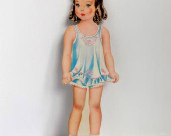 Very Sweet Vintage Paper Doll With Lots of Clothes! Nicely Cut Out, / Great Condition