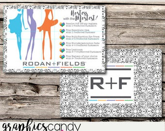 Rodan + Fields Hostess Card / Marketing / - Postcard Size - Multi Level Marketing - MLM - Free Shipping USA ONLY!