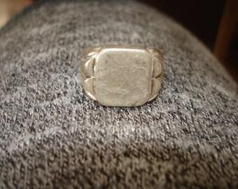 """Vintage """"M""""  Sterling Ring Size 8.5"""